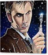 Dr Who #10 - David Tennant Acrylic Print
