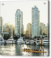 Dragon Boating In Vancouver Acrylic Print