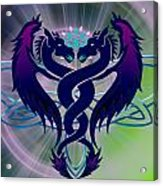 Dragon Duel Series 2 Acrylic Print