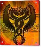 Dragon Duel Series 3 Acrylic Print