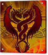 Dragon Duel Series 5 Acrylic Print