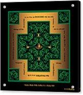 Dragon Egg Celtic Cross Acrylic Print