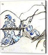 Dragon Girl Acrylic Print