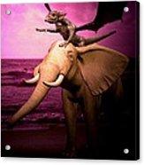 Dragon Riding Elephant Acrylic Print