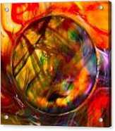 Dragon Travel Sphere Acrylic Print