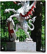 Dragon With St George Shield Acrylic Print