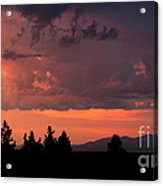 Dragonfire Sunset - Mt. Spokane Wa Acrylic Print