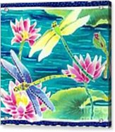 On The Breeze Of Dragonflies Acrylic Print