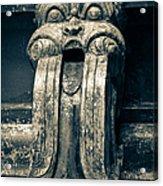 Drainage Ornament On Hindu Seetha Amman Temple In City Seetha Eliya Acrylic Print
