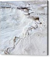 Dramatic Abstract At White Sands Acrylic Print
