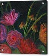 Dramatic Floral Still Life Painting Acrylic Print