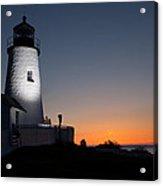 Dramatic Lighthouse Sunrise Acrylic Print
