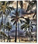 Dramatic Maui Sunset Acrylic Print