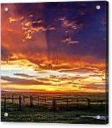Dramatic Prairie Sunset Acrylic Print