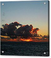 Dramatic Sea Sky At Dawn Acrylic Print