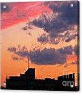 Dramatic Sky Dwarfs Halifax Skyline Acrylic Print