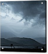 Dramatic Sky Over Silhouettes Acrylic Print