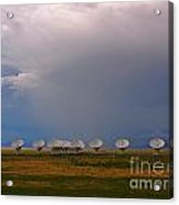 Dramatic Sky Over The Very Large Array Acrylic Print