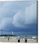 Dramatic Storm Clouds Over Lake Michigan Acrylic Print