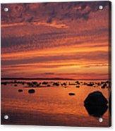 Dramatic Sunset Light Acrylic Print