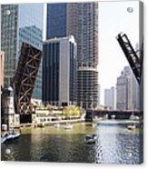 Draw Bridges Of Chicago Acrylic Print