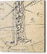 Drawing By Leonardo Da Vinci.. Flying Acrylic Print