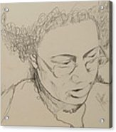 Drawing Of A Woman Acrylic Print