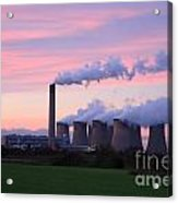 Drax Power Station At Sunset Acrylic Print