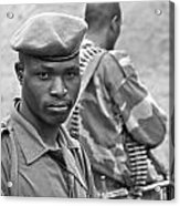 Drc Defense Force Soldier Acrylic Print
