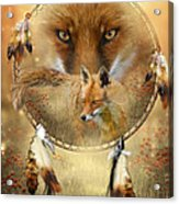 Dream Catcher- Spirit Of The Red Fox Acrylic Print