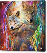 Dream Catcher - Wolf Spirits Acrylic Print