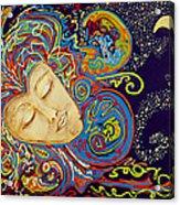 Dream Mask Acrylic Print by Nickie Bradley