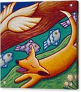 Dream Runner Acrylic Print by Mary Anne Nagy