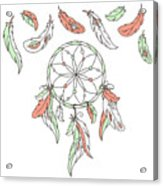 Dreamcatcher, Feathers. Vector Acrylic Print