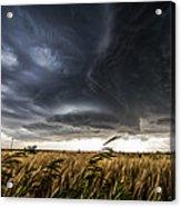 Dreamcatcher - Scenic Storm Over Kansas Plains Acrylic Print
