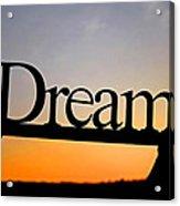 Dreaming At Sunset Acrylic Print