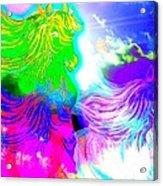 Dreaming Of Rainbow Horses Acrylic Print