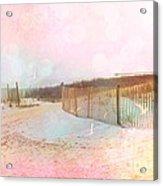 Dreamy Cottage Summer Beach Ocean Coastal Art Acrylic Print