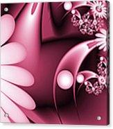 Dreamy Flower Garden Acrylic Print