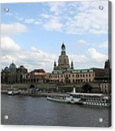 Dresden And River Elbe - Germany Acrylic Print