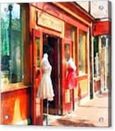 Dress Shop Fells Point Md Acrylic Print