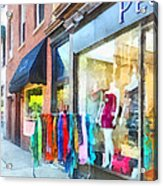 Hoboken Nj Dress Shop Acrylic Print