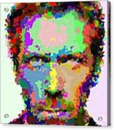 Dr. House Portrait - Abstract Acrylic Print