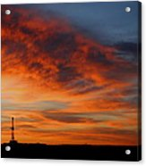 Drilling Rig Sunrise Acrylic Print