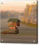 Drina House In Morning Mist Acrylic Print