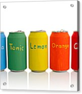 Drink Cans Acrylic Print