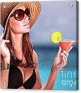 Drink Cocktail On The Beach Acrylic Print