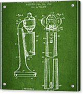 Drink Mixer Patent From 1930 - Green Acrylic Print