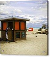 Drink Of The Day - Miami Beach - Florida Acrylic Print