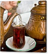 Drinking Traditional Turkish Tea Acrylic Print